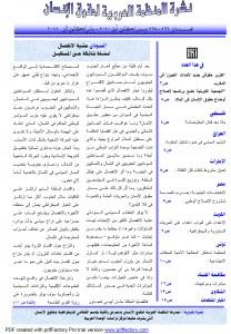 نشرة المنظمة العربية لحقوق الإنسان – نشرة غير دورية – العددان 266 – 267 ديسمبر 2010 – يناير 2011